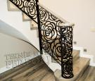 Gul desenli merdiven korkulugu ahsap kupesteli kod: TMD-79
