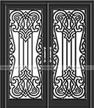 lazer kesim motifli kapilar Teknik Metal Ferforje kod: TKM-21