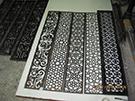 birbirinden guzel perfore lazer kesim motifler teknik metal ferforje den kod: TCNC-02