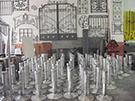 ferforje aluminyum dokum masalar teknik metal otolyede kod: TFM-29