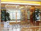lazer kesim dekoratif motifli paravan seperator ara bolme ayirici teknik metal kod: TPR-103