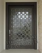 lazer kesim dekoratif bina kapisi Kod:TBK-72