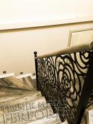 Lazer kesim gul desenli merdiven korkulugu ahsap kupesteli kod: TMD-78