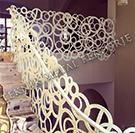 lazer kesim modern tasarim beyaz renkli merdiven kod: TMD-84