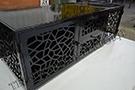 lazer kesim ozel tasarim tv unitesi parlak siyah kod: TCNC-60