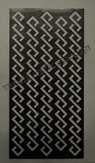 lazer kesim dekoratif motifli paravan seperator ara bolme ayirici teknik metal  kod: TPR-101
