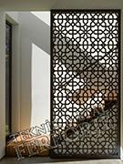 lazer kesim dekoratif motifli paravan seperator ara bolme ayirici teknik metal kod: TPR-104