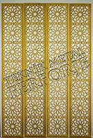 lazer kesim dekoratif motifli paravan seperator ara bolme ayirici teknik metal kod: TPR-105