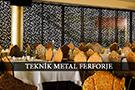 metal lazer kesim modern paravan ara bolme restorant kod: TPR-45