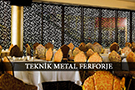 Metal Lazer Kesim Modern Paravan Ara Bolme Restoran Dekorasyon kod: TPR-45