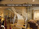 Lazer kesim motifli beyaz merdiven korkulugu kod: TMD-09