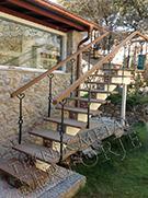 Modern villa merdiven korkuluk demiri kod: TMD-69