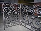 dovme demir ferforje Balkon Demiri el isciligi ile yapilmistir teknik metal kod: TFM-02