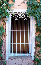guvenlikli  dekoratif pencere demiri teknik metal ferforje kod: TPD-14