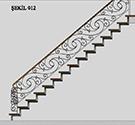Ferforje Desing merdiven korkuluk demiri kod: TCZ-25
