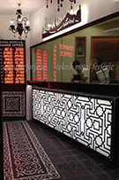 Dekoratif aydinlatmali duvar panosu, Istanbul silueti kod: TTA-24
