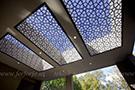dekoratif tavan-lazer kesim metal tavan modeli kod: TTA-15