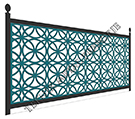 teknik metal ferforje balkon korkulu�u  kod: BL-98