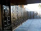 lazer kesim dekoratif motifli paravan seperator ara bolme ayirici teknik metal kod: TPR-79