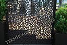 lazer kesim dekoratif motifli paravan seperator ara bolme ayirici teknik metal kod: TPR-80