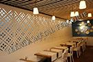 lazer kesim dekoratif motifli paravan seperator ara bolme ayirici teknik metal kod: TPR-84