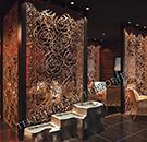lazer kesim dekoratif motifli paravan seperator ara bolme ayirici teknik metal kod: TPR-88
