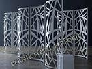 Lazer Kesim Dekoratif Motifli Paravan Seperatör Ara Bölme Ayırıcı