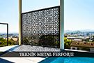 lazer kesim dekoratif motifli paravan seperator ara bolme ayirici teknik metal kod: TPR-53
