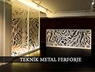 lazer kesim dekoratif motifli paravan seperator ara bolme ayirici teknik metal kod: TPR-55