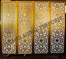 lazer kesim dekoratif motifli paravan seperator ara bolme ayirici teknik metal kod: TPR-56