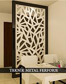lazer kesim dekoratif motifli paravan seperator ara bolme ayirici teknik metal kod: TPR-60