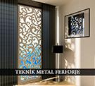 lazer kesim dekoratif motifli paravan seperator ara bolme ayirici teknik metal kod: TPR-64
