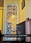 lazer kesim dekoratif motifli paravan seperator ara bolme ayirici teknik metal kod: TPR-66