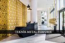 lazer kesim dekoratif motifli paravan seperator ara bolme ayirici teknik metal kod: TPR-71