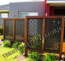lazer kesim dekoratif motifli paravan seperator ara bolme ayirici teknik metal kod: TPR-72
