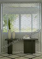 lazer kesim dekoratif motifli paravan seperator ara bolme ayirici teknik metal kod: TPR-77