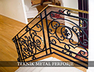 Ferforje el isciligi pirinc kupesteli merdiven Teknik Metal kod: TMD-26