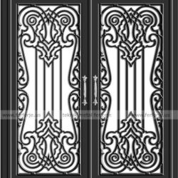Lazer Kesim Kapı Motifi Kod:KM-27