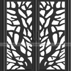Lazer Kesim Kapı Motifi Kod:KM-34