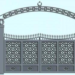 Lazer Kesim Kapı Motifi Kod:KM-36