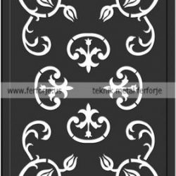 Lazer Kesim Kapı Motifi Kod:KM-43