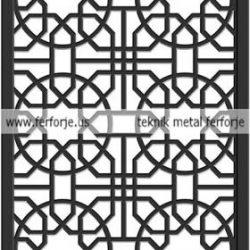 Lazer Kesim Kapı Motifi Kod:KM-49