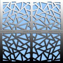 Lazer Kesim Kapı Motifi Kod:KM-58