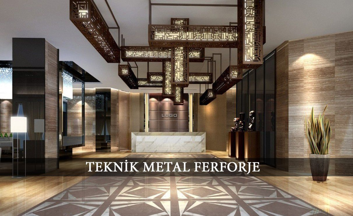 Tavan aydinlatma apl kler tekn k metal ferforje for Hotel design 06