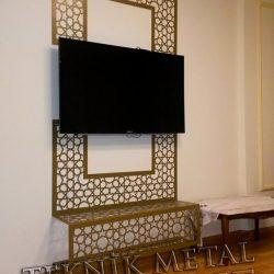 Selçuklu motifi özel üretim TV ünitesi Kod:CNC-10