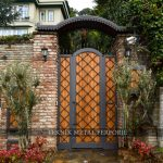 Ahşap ferforje bahçe kapısı Kod: BC-121