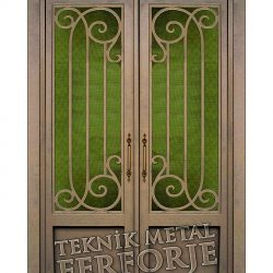 Ferforje Bina Kapısı Kod:BK-70