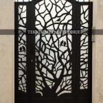 Lazer kesim ağaç motifli bahçe kapısı Kod: BC-122