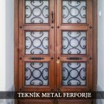 Ahşap Ferforje Kapı Kod: AK-15